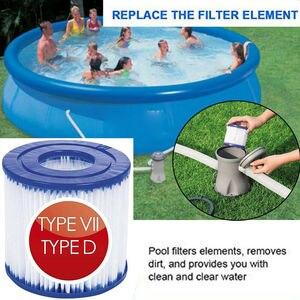 Для Intex Тип D/Bestway VII фильтр для бассейна картридж многоразовый фильтр для бассейна Поролоновый губчатый картридж HEPA чистящие инструменты