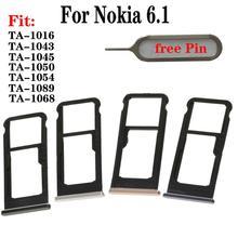 Shyueda 100% New For Nokia 6.1 TA-1016 TA-1043 TA-1045 TA-1050 TA-1054 TA-1068 TA-1089 SIM Tray SD Card Tray Slot With Pin ta sports