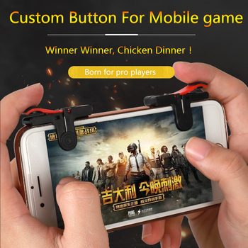SLILE PUBG Mobile Quick Shooting Gamepad L1R1 Shooter Joystick Game Trigger Button Fire PUBG Gamepad Phone Game for Android IOS pubg mobile gamepad pubg controller for iphone android ios for phone l1r1 grip with joystick trigger l1r1 pubg fire buttons
