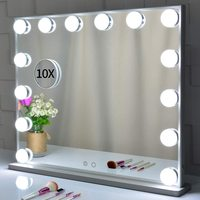 Vanity Hollywood Light Makeup Dressing Table Set Mirrors with Dimmer 3 color Light Cosmetic Mirror Adjustable Touch Screen