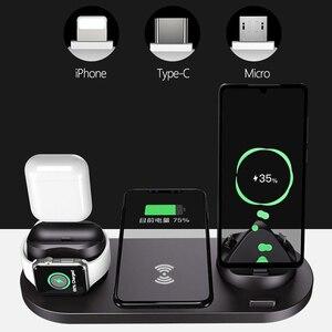 Image 2 - Caricatore senza fili Multi funzione di Ricarica Veloce Del Basamento per il iPhone 11 Pro X Xs Apple Osservare 5 4 3 AirPods pro Senza Fili Caricatore Rapido