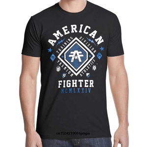 American Fighter T Shirt 13 Mens Round Neck Short Sleeves T-shirt Cotton Bottoming T Shirt Casual Tops Fashion Clothing