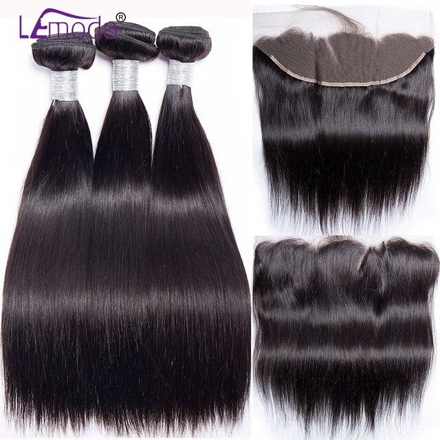 Proste włosy ludzkie wiązki z przednim zamknięciem brazylijskie włosy wyplata wiązki z przednim zamknięciem 100% doczepy z ludzkich włosów