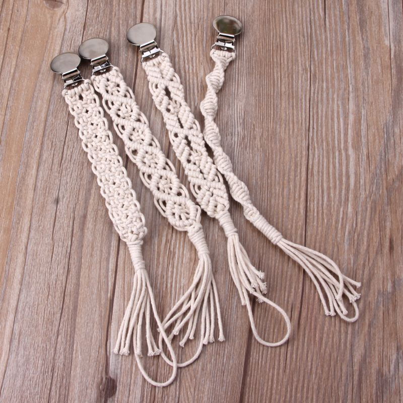 Baby Vintage Crochet Cotton Pacifier Clips Chain Dummy Clip Pacifier Holder Nipple Soother Chain For Infant Baby Feeding 19QF