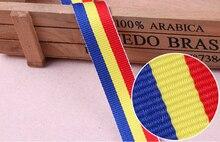 Лента из плотной тесьмы синяя желтая красная лента корсажная