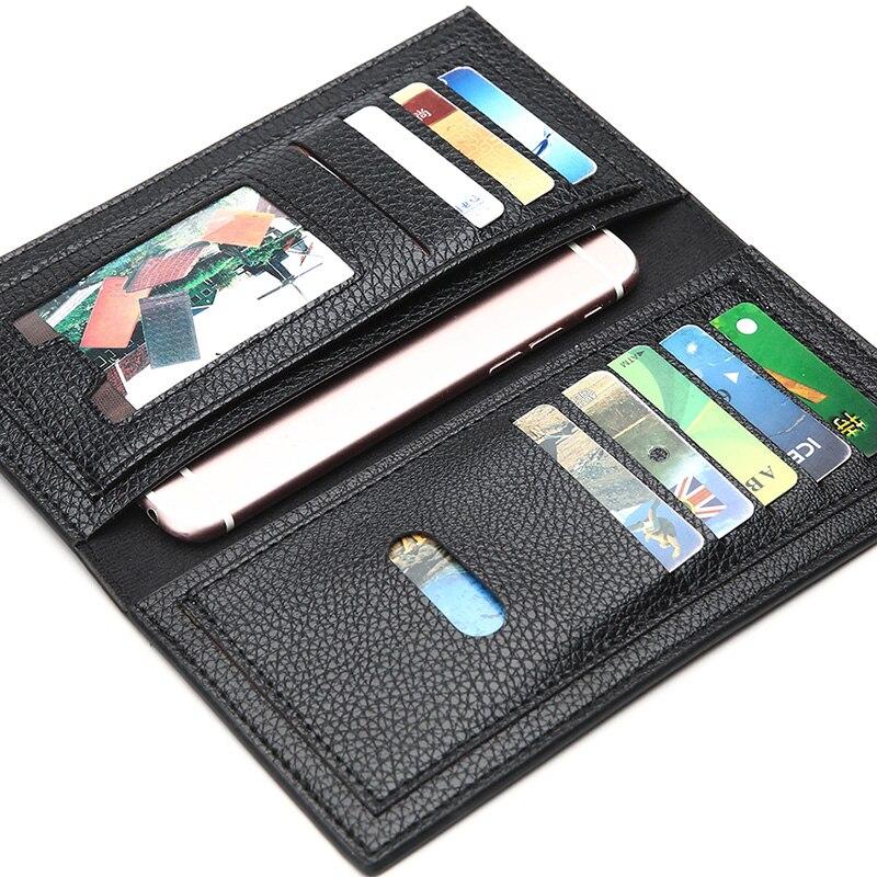 Long Style Men's Wallets Money Purse PU Leather Men's Long Wallet Purse Credit Card Bag Fashion Design Male Wallet Money Purse