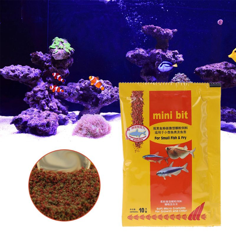 Aquarium Small Fish Food Bettas Tropical Goldfish Healthy Feed Supplies