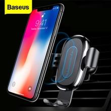 Baseus اللاسلكية شاحن سيارة حامل آيفون 11 برو ماكس USB اللاسلكية شحن لسامسونج S9 نوت 9 الهواء تنفيس سيارة جبل حامل