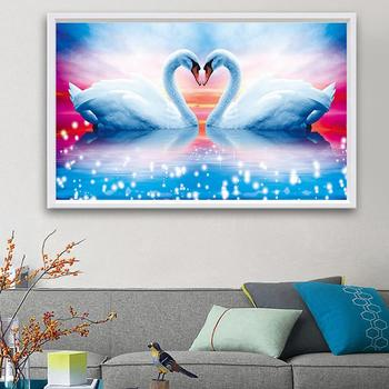5D DIY Diamond Painting Swan Animal Crystal Drawing Needlework Gift Full Diamond Embroidery Cross stitch Home Decor M631 image