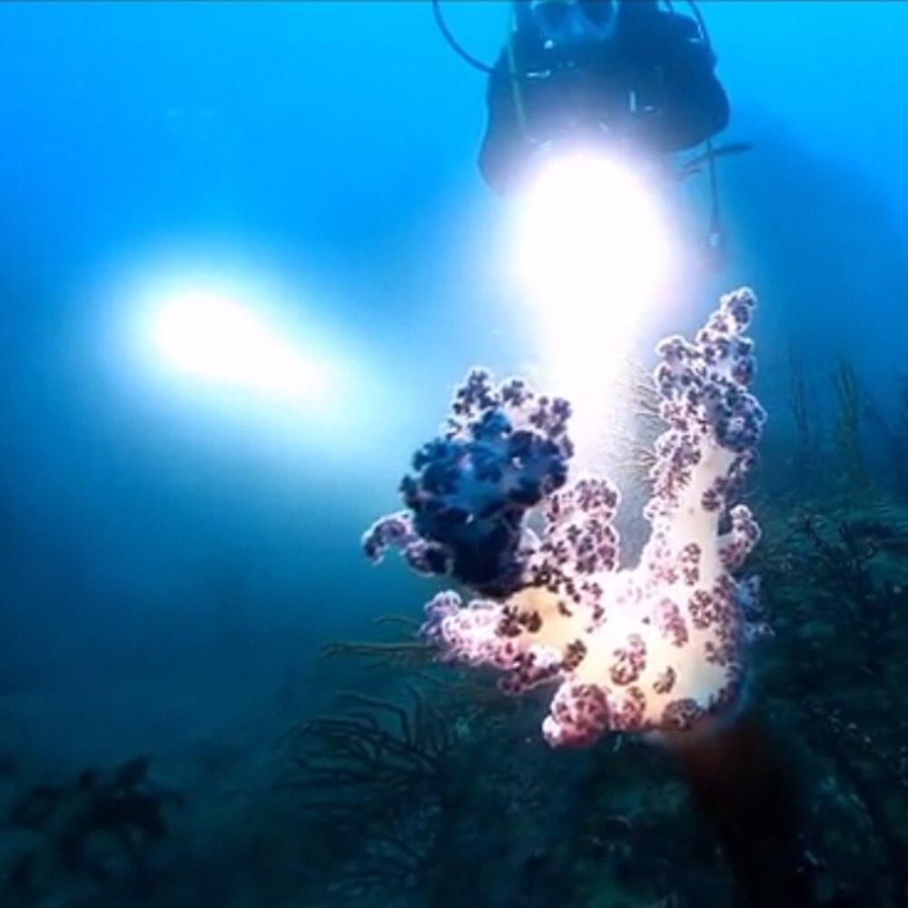 Tocha militarydiving natação led flashlightgrade xhp70 super