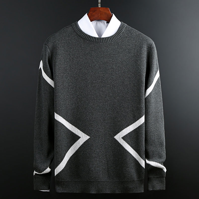 Pullover Sweaters Mens Fashion Autumn Winter Male Knitted Long-sleeved Sweater O-neck Fashion Casual Men Brand Clothing Coats