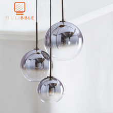 BLUBBLE Modern Pendant Light Silver Gold Gradient Glass Ball Hanging Lamp Hanglamp Kitchen Fixture Dining Living Room Light(China)