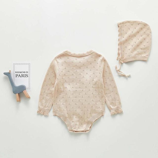 Baby Bodysuits Clothes Fashion Solid Color Newborn Boys Girls Knitted Jumpsuits Outfits Autumn Winter Toddler & Infant Body Tops