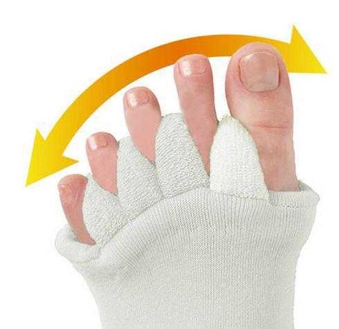 1Pair Foot Care Socks Cotton Anti Cracking Toe Separate Socks Five Toes Exposed Soft Odorless Foot Relaxation 2