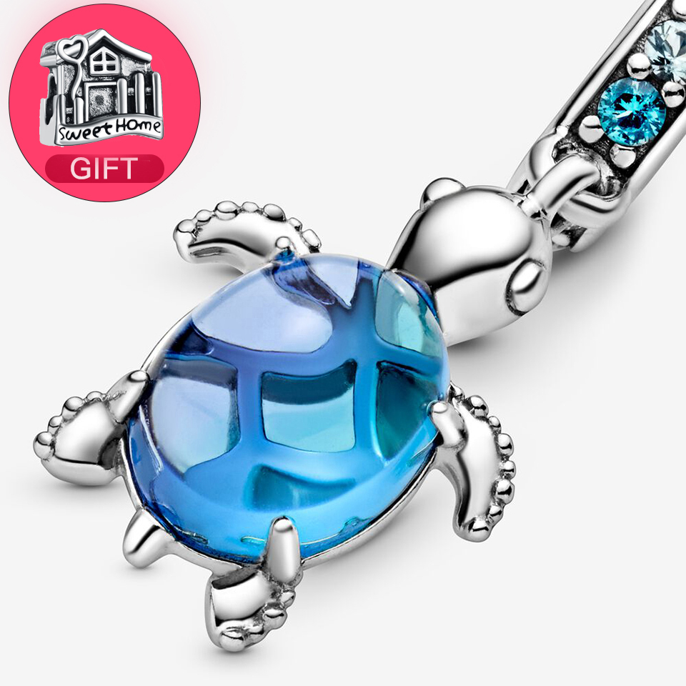 buy 1 get 1 gift free 925 Sterling Silver Baby turtle Cool Summer day series charm Fit for Original Silver Bracelet(China)