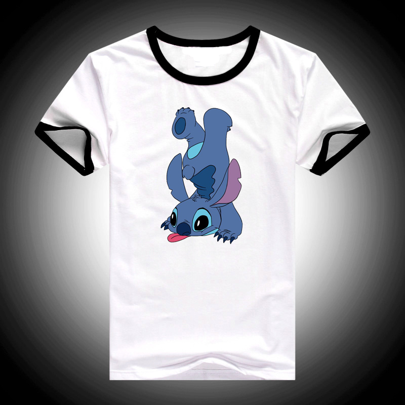 Funny T Shirts Camiseta Mujer LILO STITCH Vogue Tshirt Women Clothes 2019 Harajuku Ulzzang Shirt Cartoon Print Female T-shirt