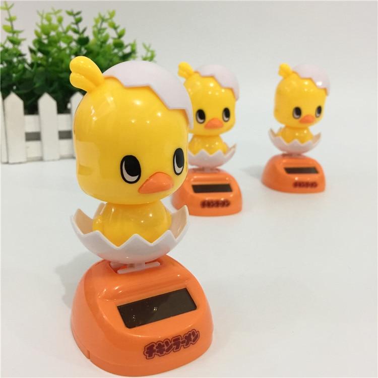 Solar Powered Chick Eggshell Dancing Flip Flap Car Home Office Desk Ornament Decoration Dancer Bobble Head Toy Kids Xmas Gift