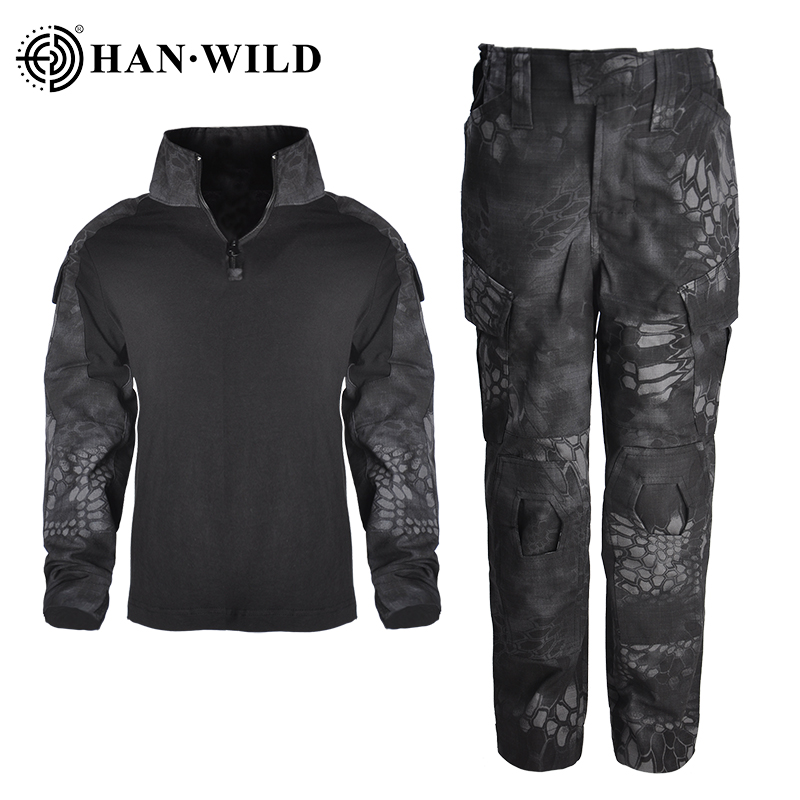 Children's Camouflage Training Clothes Suit Kids Outdoor CS Field Camping Hunting Military Combat Uniform Tactical Shirt Pants