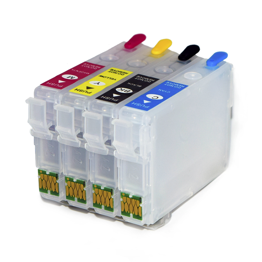 T04E Refill Ink Cartridge With Chip For Epson Workforce WF-2831 WF-2851 Expression Home XP-2101 XP-4101 Printers