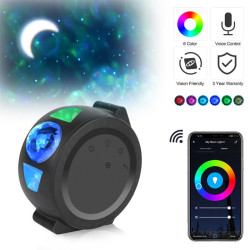 WIFI Remote Projector Sky Night Light Star Ocean Wave Sky Projector Water Wave Night Lamp Sky Laser Galaxy Projector