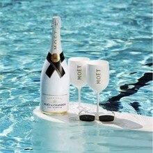 2pcsWine Вечерние белый бокал для шампанского купе коктейль стеклянные бокалы для шампанского покрытие чашка, бокал для вина с гальваническим ...