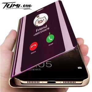 Новый Умный зеркальный флип-чехол для Huawei P40 P30 P20 Pro P8 Lite 2017 Y6 Y7 Y9 Prime 2019 P Smart Z Mate 10 20 30 Lite чехол для телефона