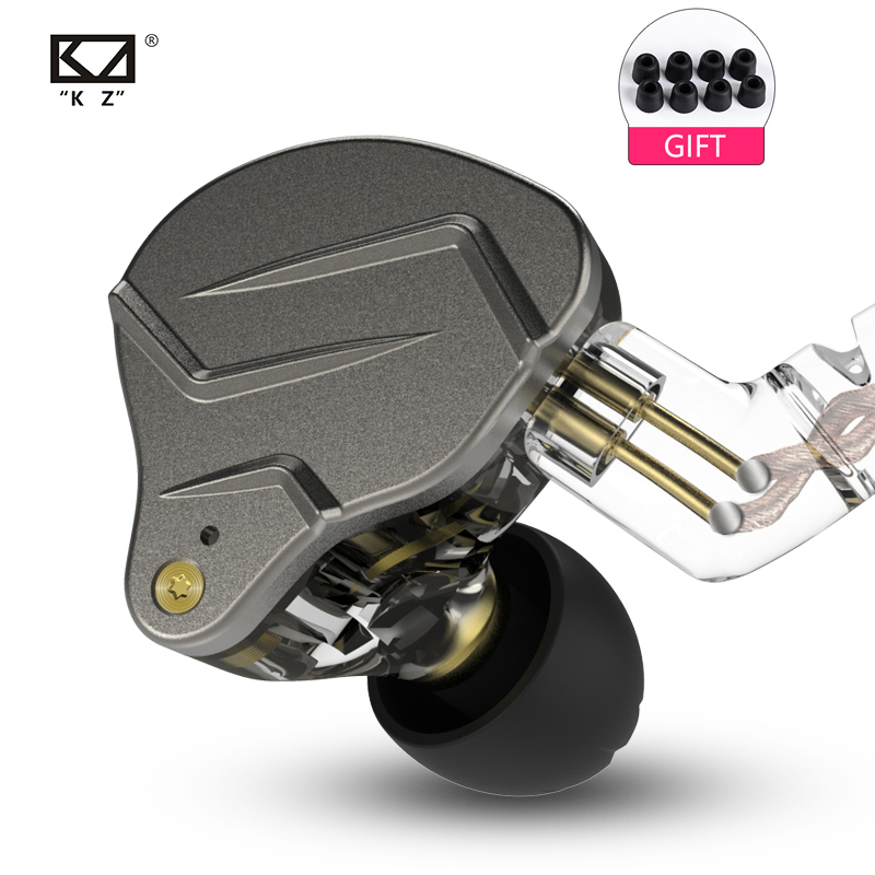 Kz zsn pro 1ba + 1dd híbrido no ouvido fone de alta fidelidade dj monito correndo esporte fone de ouvido fone de ouvido kz zs10 zs6 kz ba10 kz as10 zsn