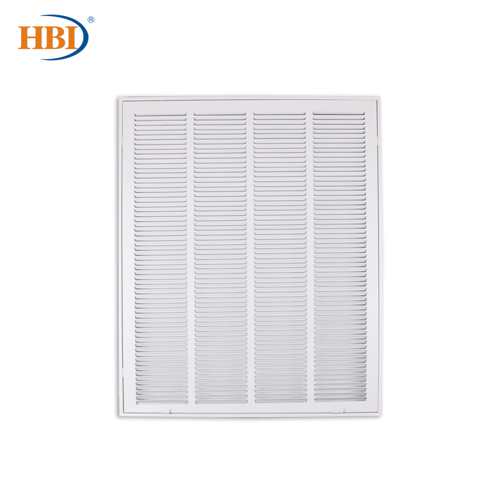 "W24"" X H30"" Steel Air Vent Filter Return Air Grille Vent Cover White Powder Coating With Frame Ceiling And Sidewall Cover"