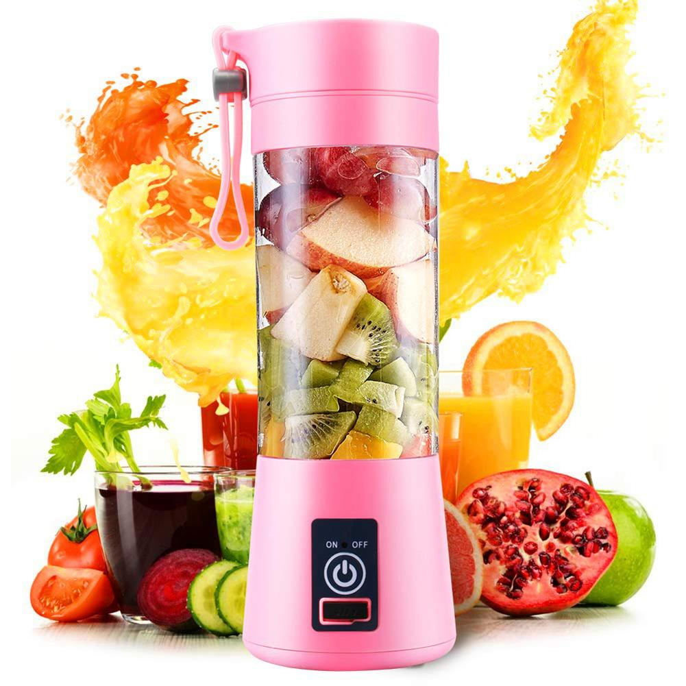 New Arrival Portable Home USB Rechargeable 4-Blade Electric Fruit Extractor Juice Blender