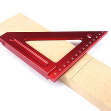 Triangle Square Ruler Aluminum Alloy Speed Protractor Miter For Carpenter Tri-square Line Scriber Saw Guide Measurement Tool F woodworking ruler square triangle ruler for speed square triangle angle protractor laser engraving carpenter measuring tools
