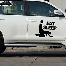 Pegatina Eat Sleep Sex Sticker Car Vinyl Decal Funny Car Truck Sticker Mechanic Posters Vinyl Wall Decals Decor Mural Sticker(China)