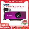 Yeston Radeon RX 550 GPU 4GB GDDR5 128bit Gaming Desktop Computer PC Video Graphics Cards VGA/DVI-D/HDMI-compatible PCI-E 3.0