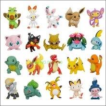 Pokemones eevee charmander mega charizard xy bulbasaur alola vulpix ninetales greninja squirtle abra anime figuras de brinquedo de ação