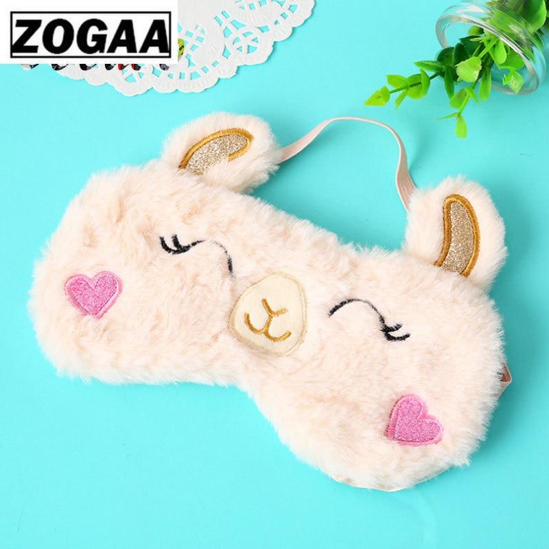 1PCS Eye Mask Alpaca Sleep Eye Mask Pink Orbital Rabbit Cartoon Koala Shade Sleep Eye Masks Stuffed & Plush Animals A60