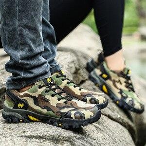 Image 4 - Fashion Camo Wandelschoenen Mannen Sneakers Outdoor Lover Camping Bergbeklimmen Schoenen Waterdicht Trekking Schoenen botas tacticas
