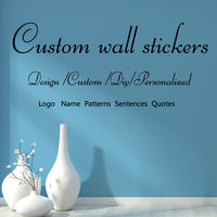 Custom name Wedding OEM logo/Sentence / patterns vinyl wall sticker decal