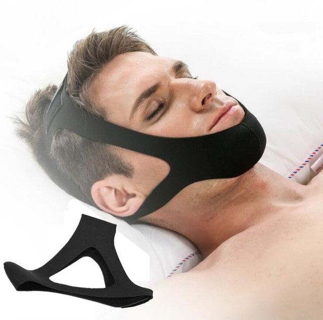 Anti Snore Chin Strap Stop Snoring Snore Belt Sleep Apnea Chin Support Straps for Woman Man Night Sleeping Snore Stopper Bandage 2