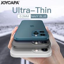 Ultra cienki matowy futerał na telefon iPhone 12 11 Pro Max X XR XS Max 7 6 6s 8 Plus SE 2020 obiektyw na całą obudowę odporny na wstrząsy matowy futerał tanie tanio JOYCAPA CN (pochodzenie) Aneks Skrzynki Ultra-Slim PP Case Apple iphone ów Iphone 6 Iphone 6 plus IPHONE 6S Iphone 6 s plus