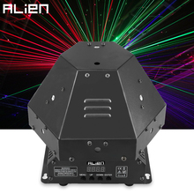 ALIEN 1W RGB Laser Beam Stage Lighting Effect Laser Patterns Projector DJ Disco Party Dance Wedding Xmas Bar KTV DMX Moving Head