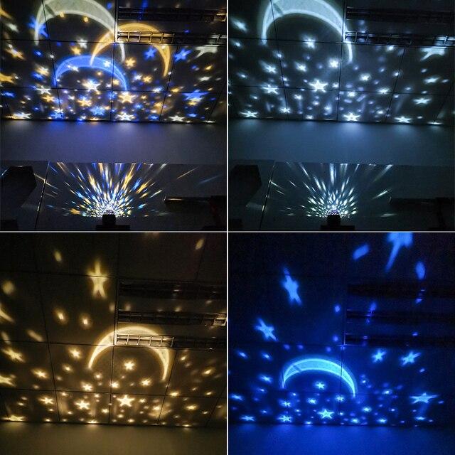Светодиодная проекционная лампа с изображением звездного неба