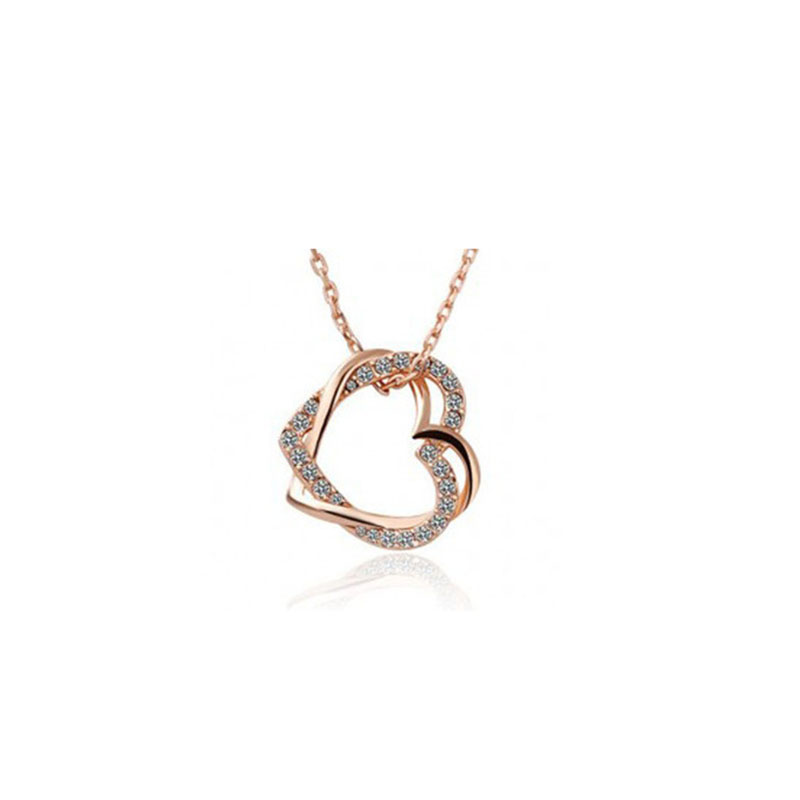 EDS Long Chain Necklace Gold Silver Fashion Heart Korean Style Women Jewerly Alloy Love Couple Necklace