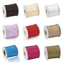 0.5mm 0.8mm 1.2mm 1.5mm coreano encerado cordão de cordão de poliéster joias que faz suprimentos por atacado f60
