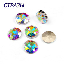 CTPA3bI 1201 Round Shape Crystal AB Color Fancy Beads Rhinestones DIY Garments For Jewelry Making Charming Needlework Strass