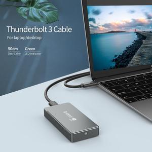 Image 3 - ORICO Thunderbolt 3 M.2 NVME SSD 인클로저 40Gbps 지원 Mac Windows 용 40Gbps Thunderbolt 3 c에서 C 케이블로 테라바이트 알루미늄 지원