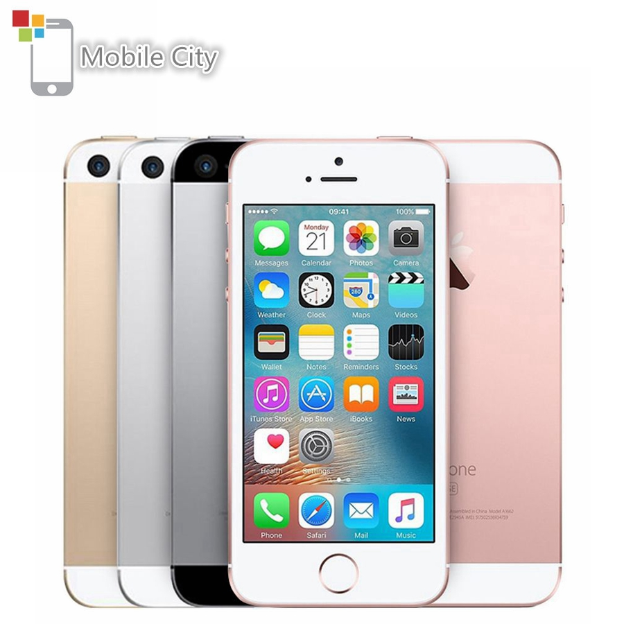 "Original Apple iPhone SE Dual-Core 4G LTE Smartphone 12MP 4"" IOS 2GB RAM 16/64GB ROM Fingerprint Touch ID Unlocked Mobile Phone"