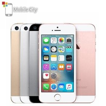 Teléfono Móvil 4G LTE apple-iphone SE, iPhone Original libre, Dual Core, 2GB RAM, 16 GB/64GB ROM, pantalla de 12,0mp, IOS, reconocimiento de huella dactilar, Touch ID
