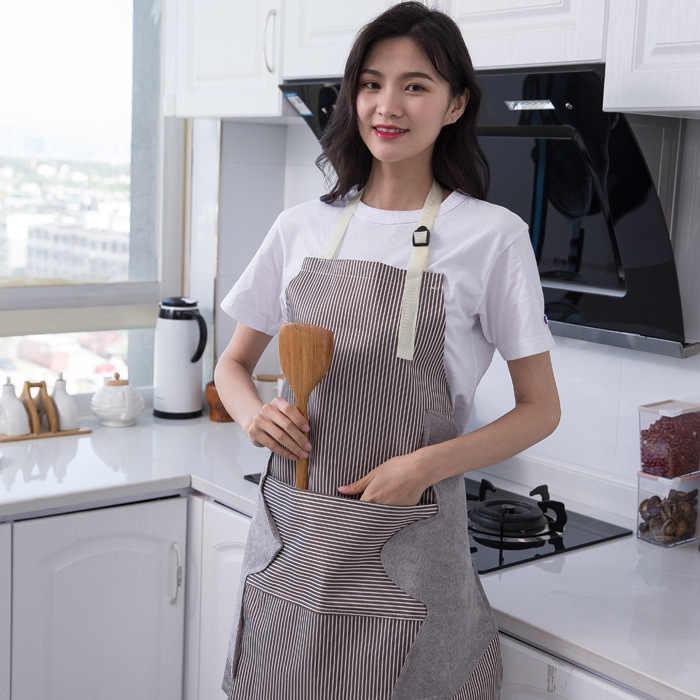 Casa Da Cucina Grembiule Da Cucina Lato Salviette Impermeabile Regolabile Fibbia Panno di Oxford Grande Strumento di Tasca del Grembiule grembiuli per la donna