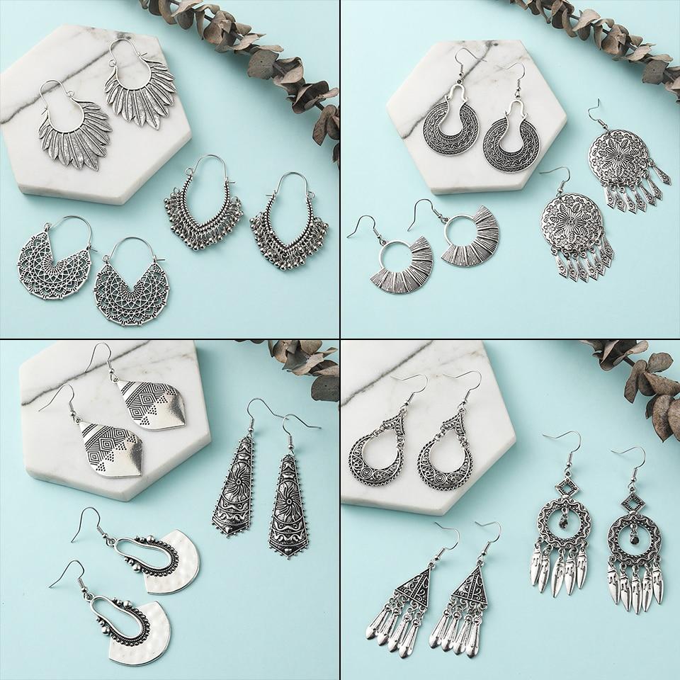 Rétro femmes coloré bohème perles boho ethnic Dangle Boucles d/'oreilles Bijoux DD