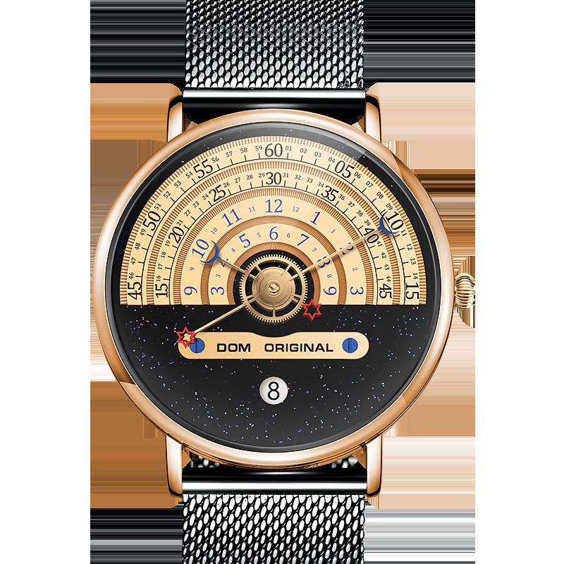 DOM модные часы мужские часы Креативные мужские часы мужские наручные часы Роскошные мужские часы reloj mujer bayan saat M-1288GK-9M