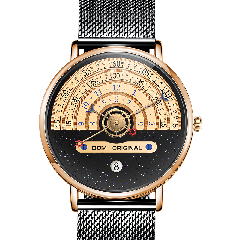 DOM Fashion Watch Men Watches Creative Men's Watches Male Wristwatch Luxury Mens Clock Reloj Mujer Bayan Saat M-1288GK-9M